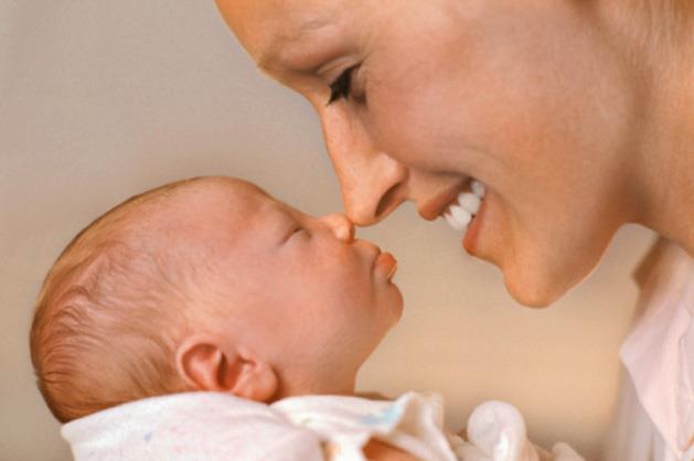 New mum bonds with her baby