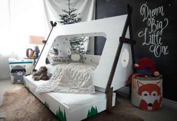 DIY Tee Pee Kids' Bed To Sleep Under The Stars