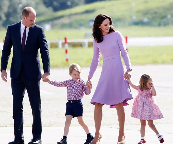 Prince William, Prince George, Duchess Catherine and Princess Charlotte