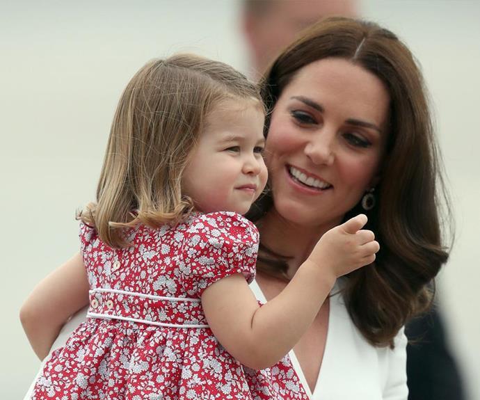 Princess Charlotte of Cambridge and Duchess Catherine