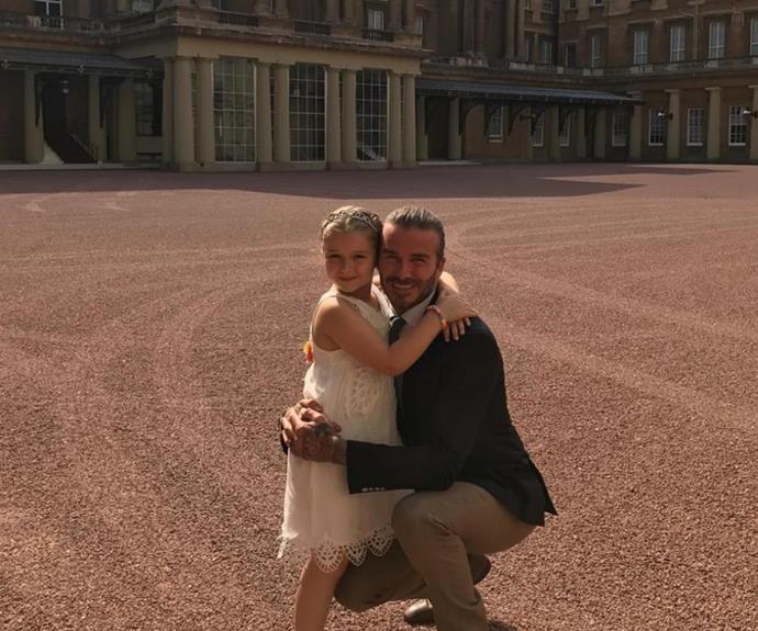 Harper Beckham, the daughter of David and Victoria Beckham