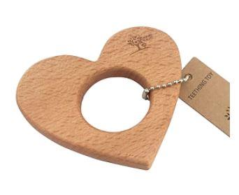 Nature Bubz Love Heart Beech Teether