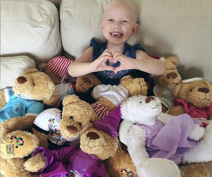 Evie teddy bears Kids' Cancer Project