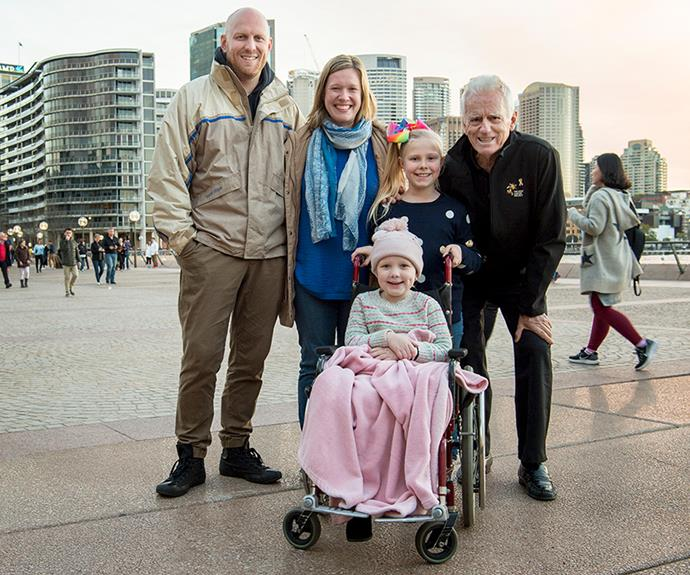 Weir family with Col Reynolds Kids' Cancer Project
