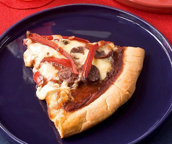 Sizzling sausage pizza
