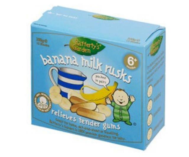 Raffertys Rusks 100g Banana Milk