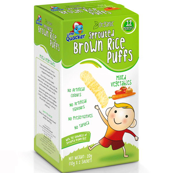 Little Quacker Sprouted Brown Rice Puffs