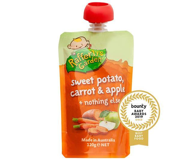 Rafferty's Garden Sweet Potato, Carrot and Apple Smooth Baby Food (120g)