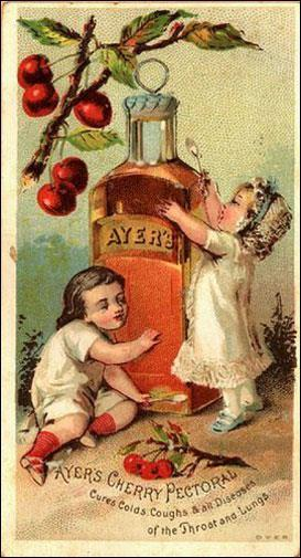 This cough syrup from 1841 contained opium.