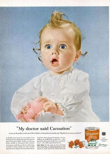 What's better than breast milk? Milk out of a can of course!