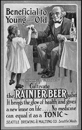 Today beer is for adults only. In 1907 it was the perfect drink for young and old.