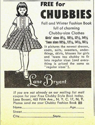 How do you dress a 'chubby' child? In chubby-size clothes of course!
