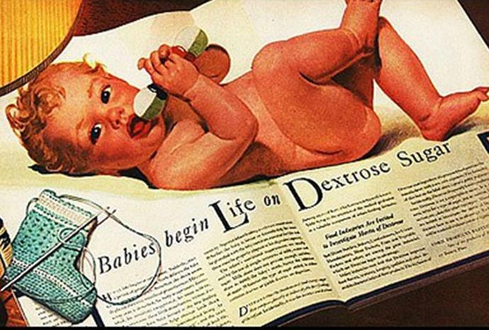 Don't know what to feed your newborn? 1941 says sugar!