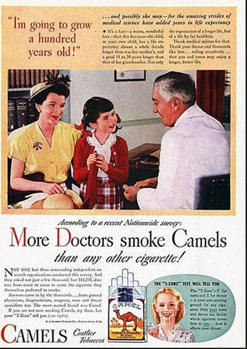 Want your kid to live for 100 years? In the 1940s that meant cigarettes and lots of them.