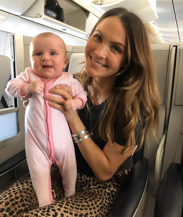 Laura Byrne Marlie Mae plane ride
