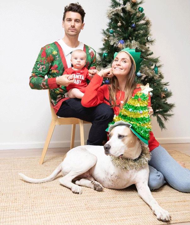 Matty J, Laura Byrne, Christmas card