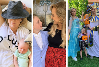 Carrie Bickmore shares the highs and lows of parenting through sweet family photos