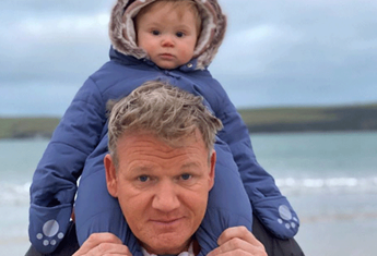 Celebrity chef Gordon Ramsay's nine-month old is already swearing!