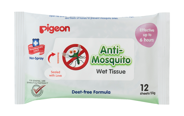 Pigeon Anti-Mosquito Wet Tissue Wipes