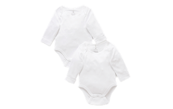 Purebaby Easy Neck Long Sleeve Bodysuit