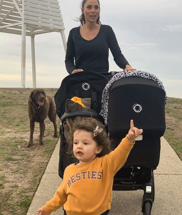 Snezana Wood postnatal fitness walk with bugaboo pram