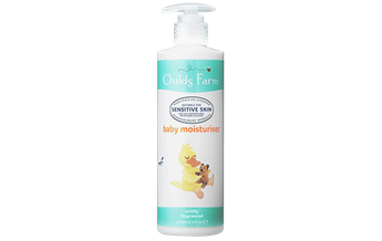 Childs Farm baby moisturiser, mildly fragranced