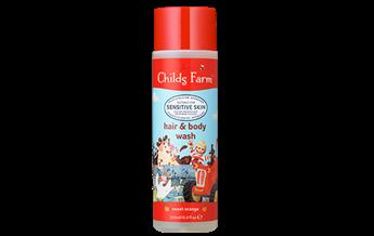 Childs Farm hair & body wash, sweet orange