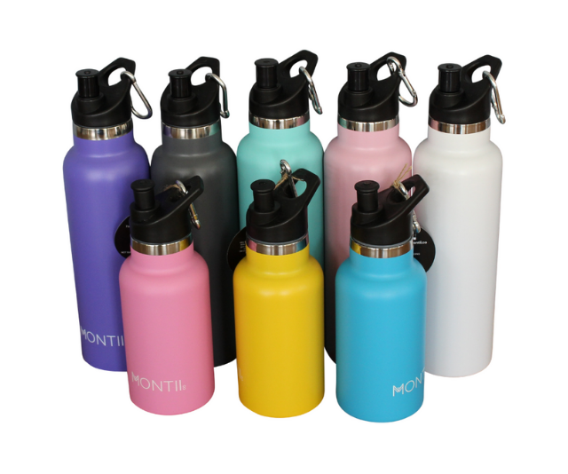 Personalised Mini and Original MontiiCo stainless steel bottles
