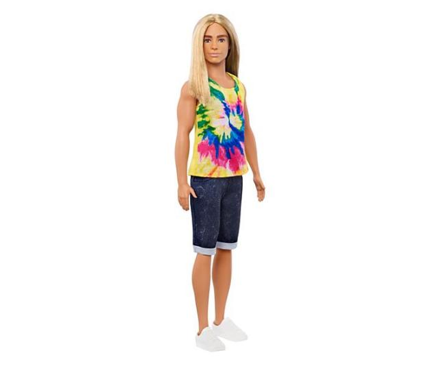 Ken doll featuring long hair