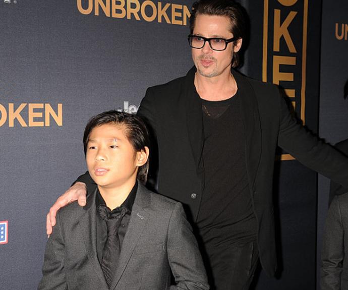 Pax Thien Jolie-Pitt and Brad Pitt