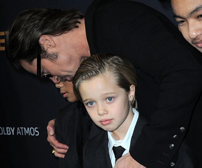 Brad Pitt and Shiloh Nouvel Jolie-Pitt