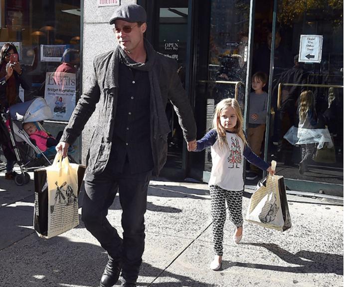 Brad Pitt and Vivienne Marcheline Jolie-Pitt