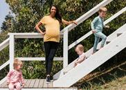 Pregnant Turia Pitt in Bonds