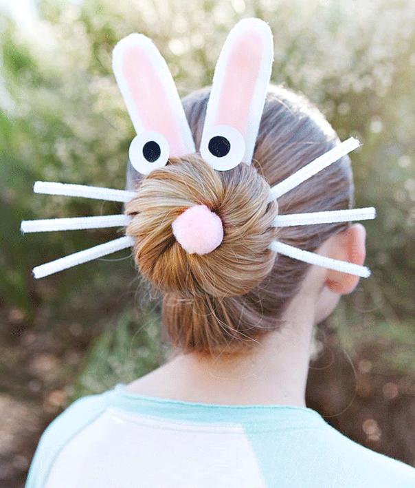 Easter bunny hair