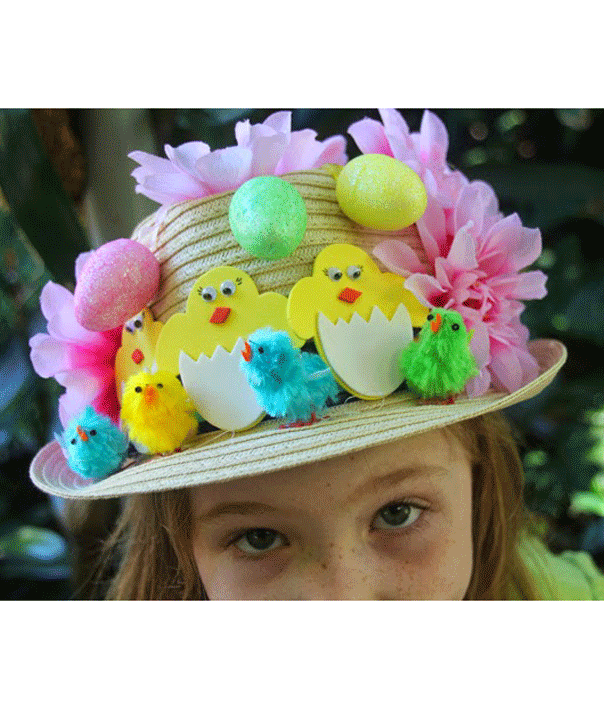easter hat flowers