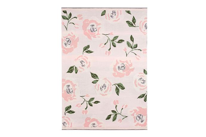 Pottery Barn Kids Meredith Knit Floral Baby Blanket