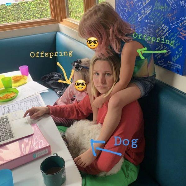 Kristen Bell homeschooling
