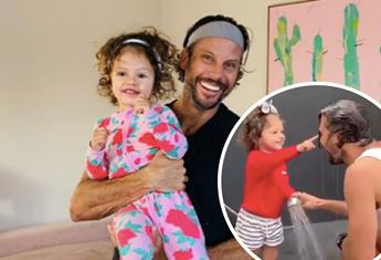 Sam Wood's pamper session with daughter, Willow is the cutest thing you'll see all day