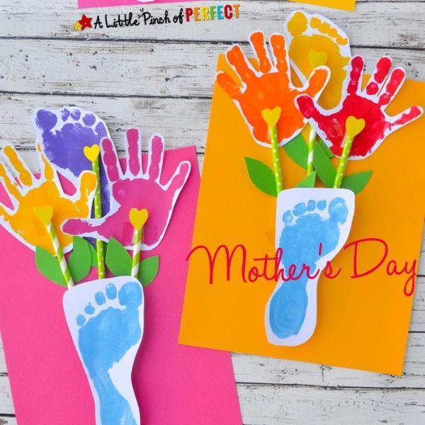 handprint footprint vase