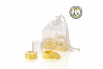 Medela Wide Base Bottle Collar & Lid Set