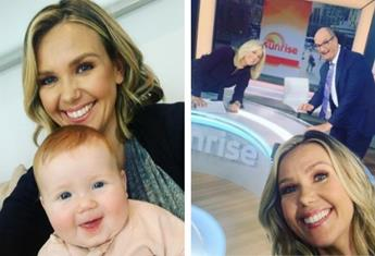 "After six months maternity leave, Edwina Bartholomew returns to Sunrise: ""I think it's time"""