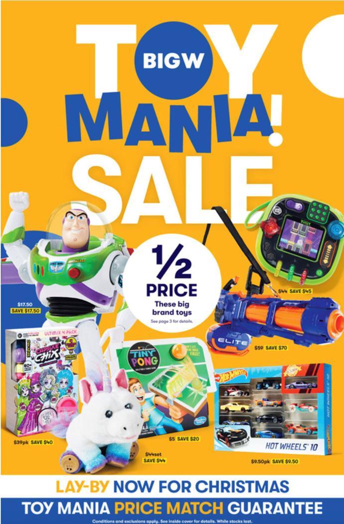 Big W Toy Mania Sale 2020
