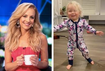 "Carrie Bickmore's 18-month-old takes her first steps: ""I was starting to worry but all in good time"""