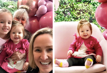 """Fifi Box celebrates Daisy's first birthday with a homemade cake that took """"hours"""" to decorate"""