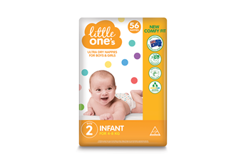 Little One's Infant Nappies 56pk