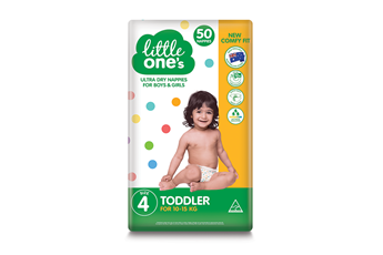 Little One's Toddler Nappies 50pk