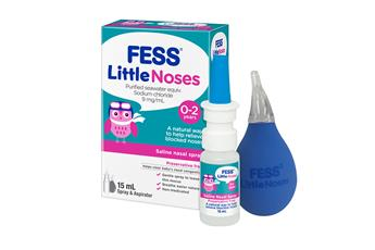 FESS Little Noses Nasal Saline Spray + Aspirator