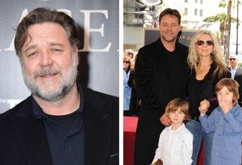 Russell Crowe feels dad guilt for not spending enough time with his sons when they were younger