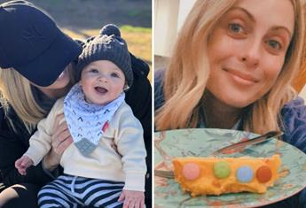 Sylvia Jeffreys shares her 'cake fail' as she plans ahead for her six-month-old's first birthday