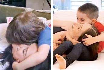 Parents test their kids' cuddling skills in this viral TikTok challenge and it's ADORABLE
